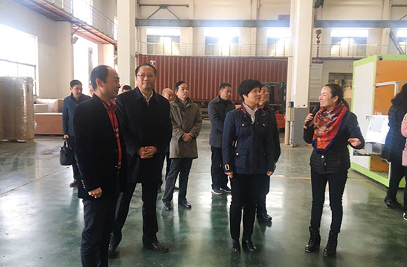 In November 2017, Mrs. CAI -Mayor of HuaiAn City and Mr. Zhang Zhiyong -Secretary of the Jinhu Party Committee visited the company.